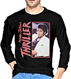 Michael Jackson Thriller Album Photo - Camiseta de manga larga para hombre