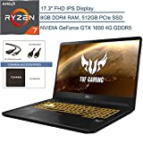 2020 ASUS TUF 17.3' FHD VR Ready Gaming Laptop Computer, AMD Ryzen 7 3750H Quad-Core (Beats i7-8565u), 8GB DDR4 RAM, 512GB PCIE SSD, NVIDIA GeForce GTX 1650 4GB, Windows 10 Home