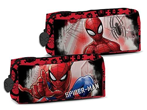 Astuccio Scuola con Cerniera Spiderman, Spazioso Portapenne Rosso per Bambini, Supereroe