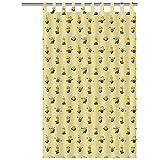 Texco - Cortina con Personajes de Disney, 100% algodón, Amarillo, 250 x 0,2 x 140 cm