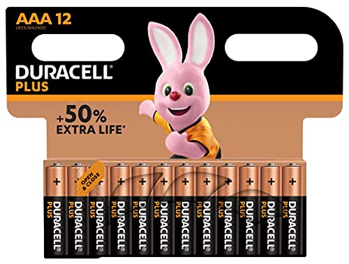 Duracell Plus AAA Batteries, Pack of 12