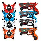 [UPGRADED] VATOS Infrared Laser Tag Gun Set for Kids Adults with Vests 4 Pack,Laser Tag Game 4...