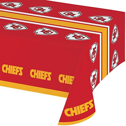Kansas City Chiefs Plastic Tablecloths, 3 ct