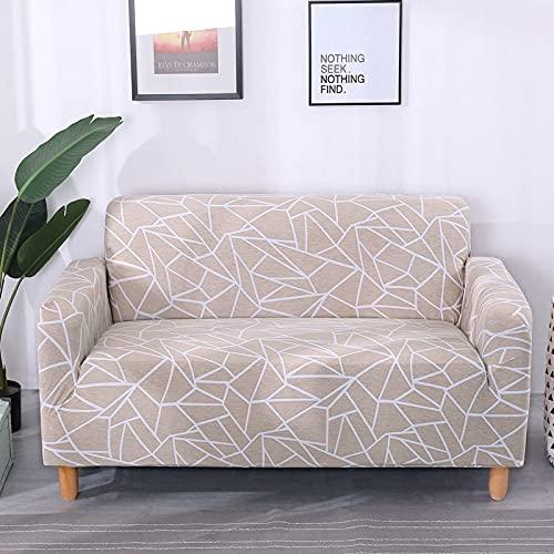 WXQY Elastischer Elasthan-Sofabezug fest gewickelt All-Inclusive-Sofabezug modularer Sofabezug Möbelschutzbezug A21 3-Sitzer