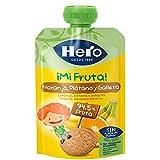 Hero Bolsita de Fruta Naranja, Plátano y Galleta 100g