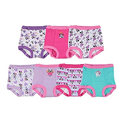 Disney Girls' 7pk Minnie Mouse Potty Training Pants Multipack, MinnieTraining7pk, 4T by Disney