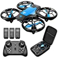 4DRC V8 Mini Drone for Kids Hand Operated RC Quadcopter with 3 Batteries Longer Flight Time, Altitude Hold, Headless Mode, Throwing GO, 3D Flip and 3 Speed Modes Aeroplane for Beginners from 4drc