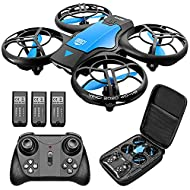 4DRC V8 Mini Drone for Kids Hand Operated RC Quadcopter with 3 Batteries Longer Flight Time, Altitud...