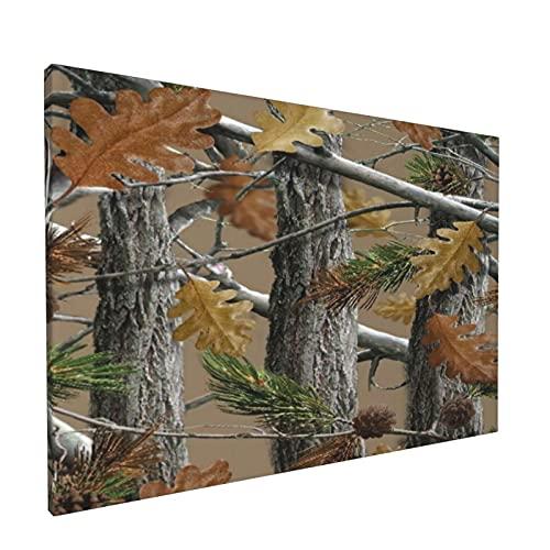 Arte de pared,Camo Trees Orange Fashion Print,pinturas al óleo enmarcadas impresas en lienzo Obra de arte moderna para sala de estar dormitorio decoración de pared de oficina
