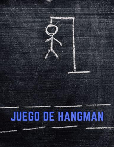 Juego de Hangman: Libro de juego de rompecabezas de ahorcado para adultos, libro de juego divertido de Hangman