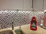 infactory 3D Fliesenaufkleber Bad: Selbstklebende 3D-Mosaik-Fliesenaufkleber Dezent 26 x 26 cm, 3er-Set (Selbstklebende Mosaik Folie) - 9