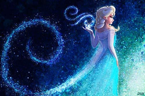 CHANGJIU- Puzzle De 1000 Piezas para Adultos Y Niños- Póster De La Princesa Elsa De La Película Frozen -DIY Arte Rompecabezas, Intelectual Educativo Rompecabezas, Divertido Juego Familiar
