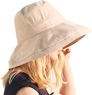 F.ZH UVカット帽子 レディース ハット サファリハット 日よけ帽子 紫外線対策 つばひろ 折りたたみ ワイヤーを加える 日焼け防止 熱中症予防 軽量 旅行用 日よけ 日射し 海 夏季 女優帽 小顔効果抜群