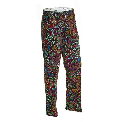 Royal & Awesome - Pantalones de Golf para Hombre, Todo el año, Pantalones de Golf, Hombre, Color Multicolor (Crazy Paisley), tamaño 34W / 34L