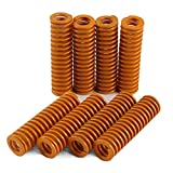 BCZAMD 3D Printer Parrts Heatbed Spring 0.39 OD 1.37 Length Light Load Compression Mould Die Spring Yellow Compression for TEVO Tarantula Series CR-10 S5 Bed-8Pcs