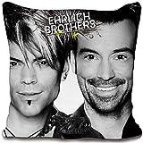 BERONAGE Ehrlich Brothers Kissen Dream & Fly 40x40 cm Star Magier Andreas & Christian Kuschelkissen...