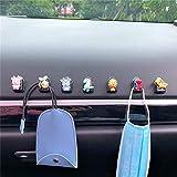 5 piezas de ganchos de coche de dibujos animados bonitos organizadores de ganchos de plástico adhesivos para coche ganchos para asiento trasero de coche perchas para coche organizador de asiento