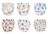 OZYOL STIMMUNGSVOLLE 6er Pack Wasserdicht Baby Lernwindel Trainerhosen Unterwäsche Windeln Windelhose zum Toilettentraining Töpfchentraining (Set, 100)