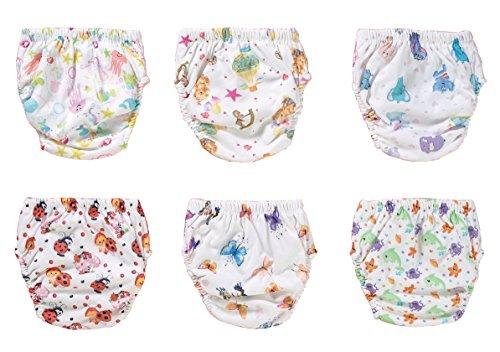 OZYOL OZYOL STIMMUNGSVOLLE 6er Pack Wasserdicht Baby Lernwindel Trainerhosen Unterwäsche Windeln Windelhose zum Toilettentraining Töpfchentraining (Set, 100)