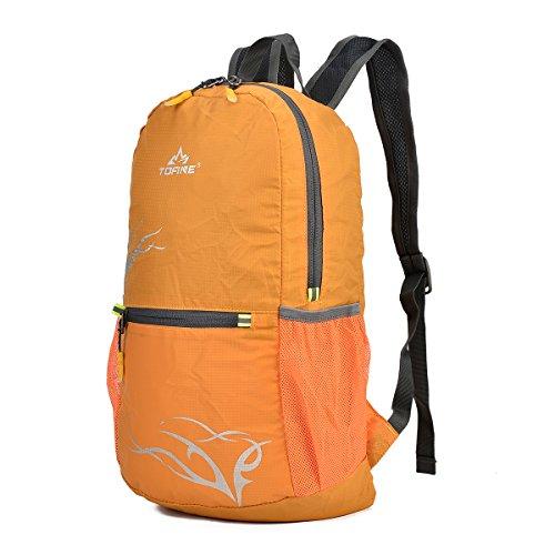 TOFINE Light Weight Designer Portable Womens Daypack For Hiking Yellow 15 Liter