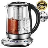 Wasserkocher DECEN Wasserkocher Glas | Temperatureinstellung 40-100 Grad | 1,7 Liter | 2200 Watt | Warmhaltefunktion | Teekocher mit Temperaturanzeige | 100% BPA FREI