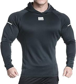 NOBRAND Muscle Europeo y Americano Brothers Verano Nuevo Suéter Deportivo de Fitness para Hombres Casual Running Training Slim Chaqueta con Capucha