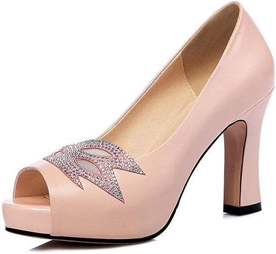 Femmes Chaussures Sandales en Cuir D'été Nouveau Poisson Bouche Talons Europe Et Aux états-Unis de Mode Strass Chaussures