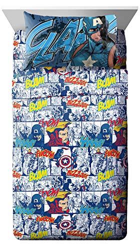 Jay Franco Avengers Publish 4 Piece Full Sheet Set (Offical Marvel Product)