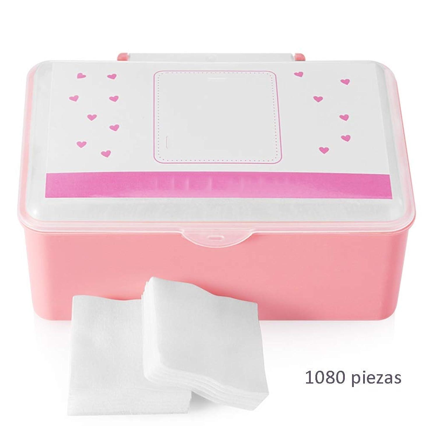 ネイティブジャンピングジャック非互換クレンジングシート コットンコットンクレンジングコットン女性の顔クリーンコットンパッドスクエアコットンパッド薄い水和ウェットドレスボックス(1080) (Color : White, サイズ : 5*6cm)