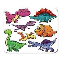 マウスパッド漫画恐竜キャラクターのステゴサウルスブロントサウルススマイルマウスマットマウスパッド
