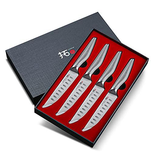 Cuchillo de carne (12 cm, acero inoxidable, 4 piezas)