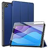 ZtotopCase Custodia per Lenovo Tab M10 HD (2nd Gen) TB-X306X/TB-X306F +1 Vetro Temperato, Cover Protettiva Elegante Ultra Sottile Pieghevole per Lenovo Tab M10 HD 10.1 Pollici 2020, Blu