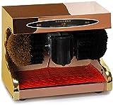 YWAWJ Betún, máquina de inducción de Auto-Limpieza Completa, Dispositivo de Auto-Calzado, hogar motorizados Calzado eléctrico máquina de Cepillado (Color : Rose Gold, Size : 38x21x31cm)