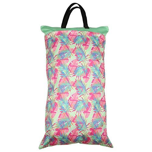 La bolsa de pañales con cremallera nunca se desvanece, la bolsa de pañales para bebés mantiene los pañales limpios y sucios por separado(EF231)