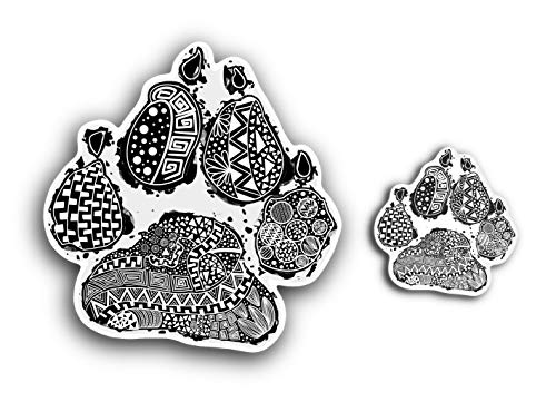 AKISU - Hundepfoten Aufkleber, Autoaufkleber Hund, Pfoten Aufkleber (wasserfest) Vier Pfoten auf Tour, Pfoten Aufkleber Auto | Auto Aufkleber, Hund Laptop Aufkleber, Paw Sticker