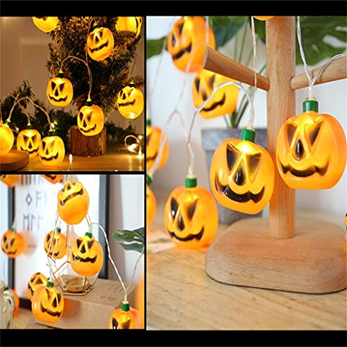Akabsh Halloween Decorations Outdoor Halloween Pumpkin Lights LED String Lights Halloween Decoration Props
