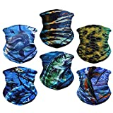 Headwear, Head Wrap, Neck Gaiter, Headband, Fishing Mask, Magic Scarf, Tube Mask, Face Bandana Mask, Neck Balaclava and Sport Scarf 12 in 1 Sweatband for Fishing, Hiking, Running