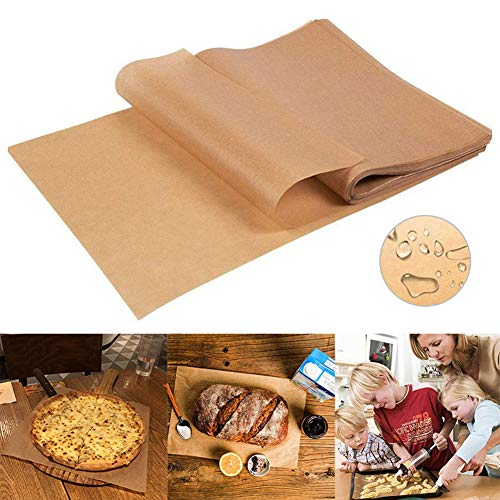 100 Pieces Parchment Paper Baking Sheets 8 x12 Inches, Precut Non-Stick Parchment Paper for Baking, Cooking, Grilling, Frying and Steaming - Unbleached, Fit for Quarter Sheet Pans