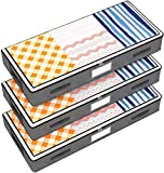 Isbasa Underbed Storage Bags, 3 Pack Large Clothes Blankets Comforters Storage Containers with Clear Windows and Extra Reinforced Handles, Grey