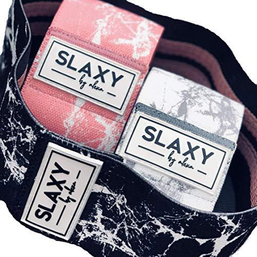 SLAXY Malibu - Juego de 3 bandas de fitness (incluye bolsa)