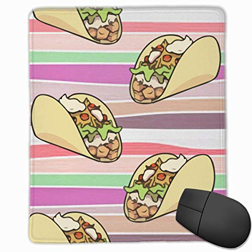 Amo Tacos Rectángulo Antideslizante Goma Mousepad Accesorios para computadora 18 x 22 CM
