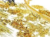 (SAJ) アクセサリーパーツセット ハンドメイド 金具 セット (ゴールド)