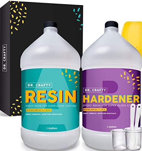 DR CRAFTY Clear Epoxy Resin Crystal Clear Art Resin Epoxy