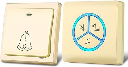 Draadloze deurbel Draadloze deurbel Nee Accu Zelfvoedend deurbel Kit 25 Eerste Chord Ringtones 4 niveaus van volume regelb...
