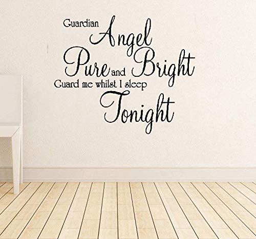 Wandtattoo Wohnzimmer Schutzengel Zitat Home Decor für Kinderzimmer Kinderzimmer Dekoration
