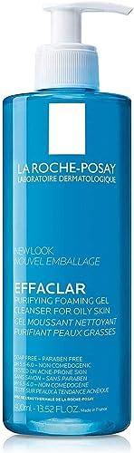 La Roche-Posay Face Wash Cleanser, Effaclar Oily Skin, Acne-Prone Skin Gel, Zinc PCA, Alcohol-Free, Dye-Free, pH Bala...