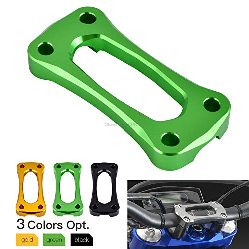 LIWENCUI- 22 Millimetri 7/8' Manubrio Riser Top Cover Morsetto for Kawasaki KX 125 250 KX250F KX450F (Color : Gold)