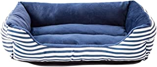 LOVEJIE Retro Pet Dogs and Cats Nest Sofa Bed, A Square of Oxford Bottom Waterproof Breathable Soft and Comfortable