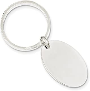 925 Sterling Silver Oval Key Ring