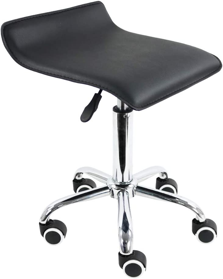 Square Rolling Inventory cleanup selling sale Max 51% OFF Stool PU Leather Rotating Height Adjustable Medic